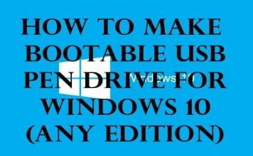 How to Make Bootable USB Pen Drive for Installing Windows 10