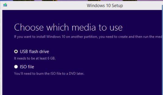 Windows 10 Media Selection