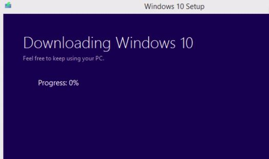 Windows 10 download progress