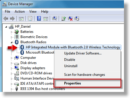 Device Manager in HP Laptop