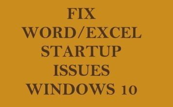 Fix Word Has Run Into an Error That is Preventing It From Working Correctly in Windows 10