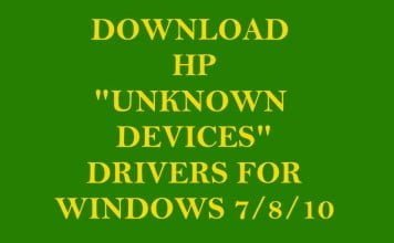 "Download HP ""Unknown Devices"" Drivers for Windows 7/8/10"