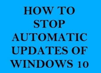 How to Stop Automatic Updates of Windows 10