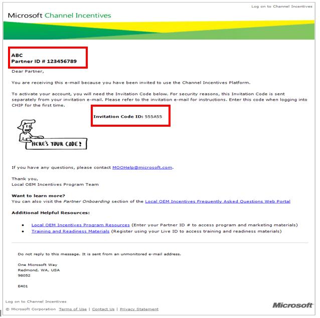 Microsoft CHIP Invite Code