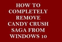 Remove Candy Crush Saga from Windows 10