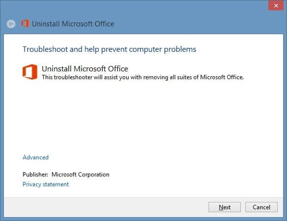 Uninstall microsoft office 2013