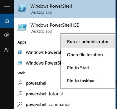 Windows 10 PowerShell ISE
