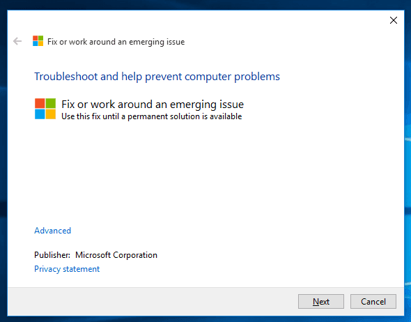 Windows 10 office troubleshooter