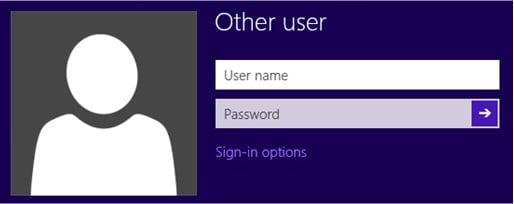 Windows 8 Interactive logon unlock screen