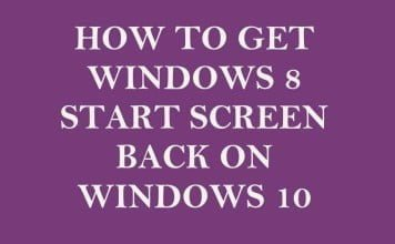 How to Get Windows 8 Start Screen Back on Windows 10
