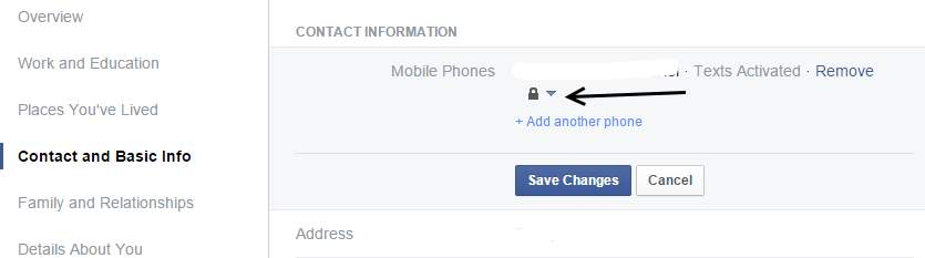 facebook phone number privacy