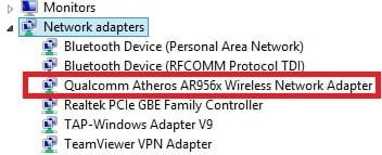 Check wireless adapter - This is an example
