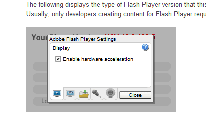 Disable Flash Hardware Acceleration