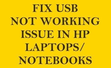 [Fix] USB Not Working in HP Envy Series Laptops/Notebooks