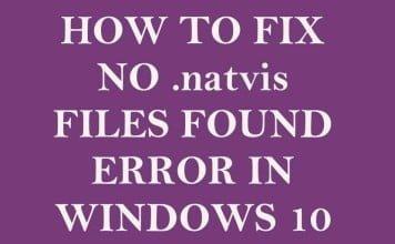 Fix No .natvis Files Found Error in Windows 10