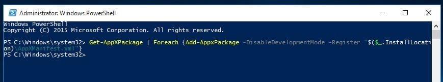 Installing bundled apps Windows 10