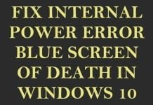 [Fix] Internal Power Error BSOD for Lenovo Y40-70 / 80 Using Windows 10