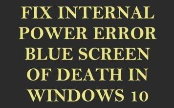 [Fix] Internal Power Error BSOD for Lenovo Y40-70 / 80 Using Windows 10