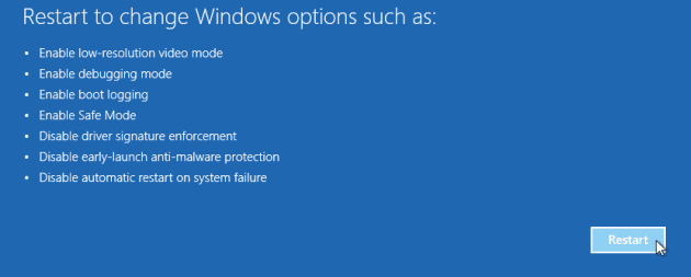 Safe Mode selection Windows 10