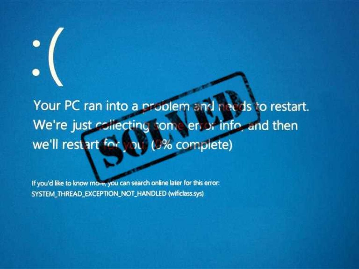 Fix System Thread Exception Not Handled Error Windows 10