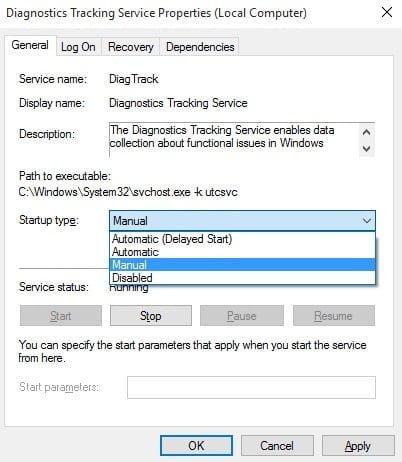 Windows 10 Diagnostics Tracking Service
