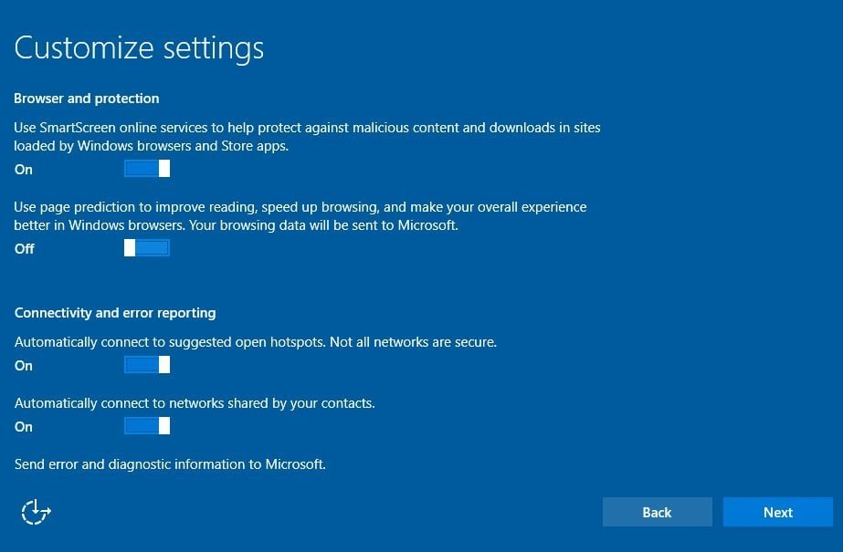 Windows 10 Internet Privacy