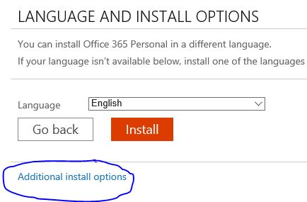 Additional install options