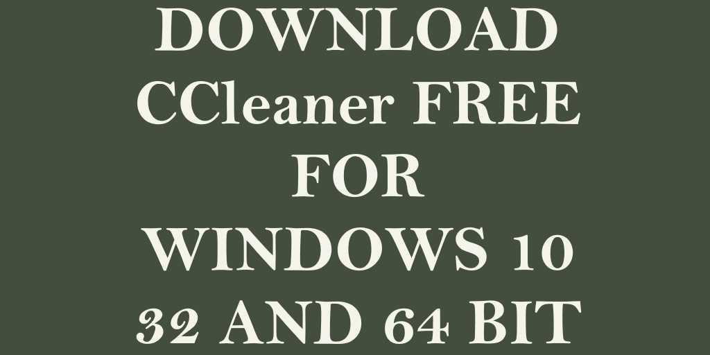 ccleaner para windows 10 64 bits