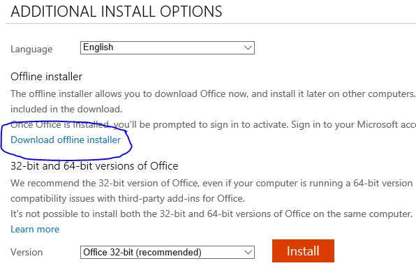 Download Offline 365 Installer