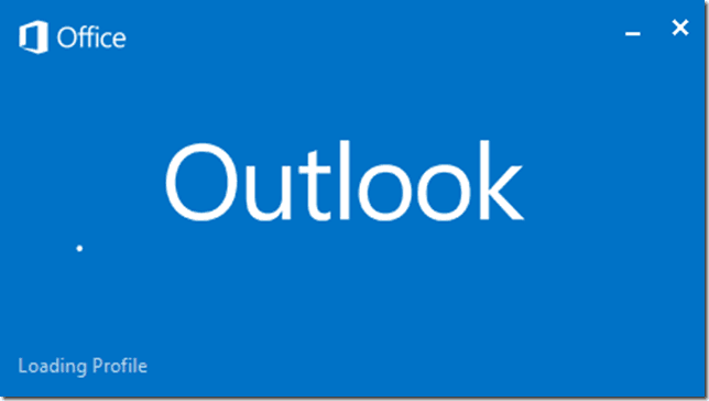 Fix Outlook 2013 Loading Profile
