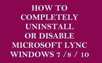How to Uninstall or Disable Lync in Windows 7 / 8 / 10