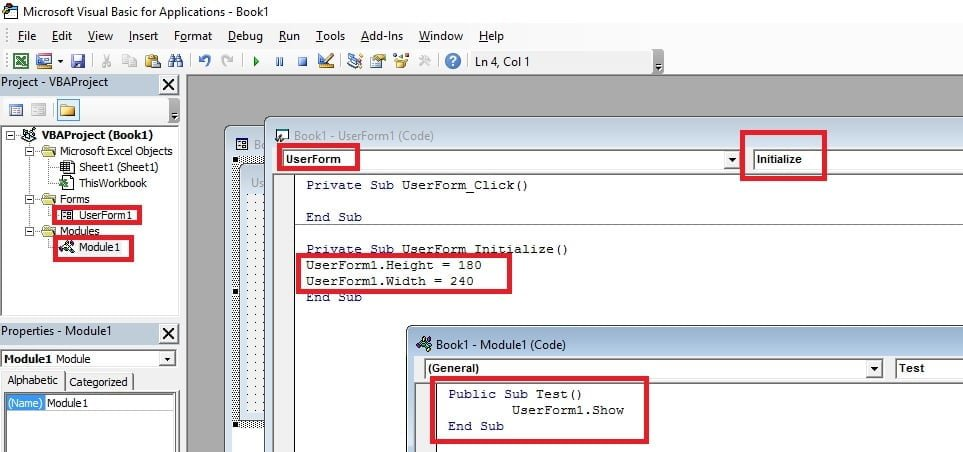 Visual Basic Editor Test Macro