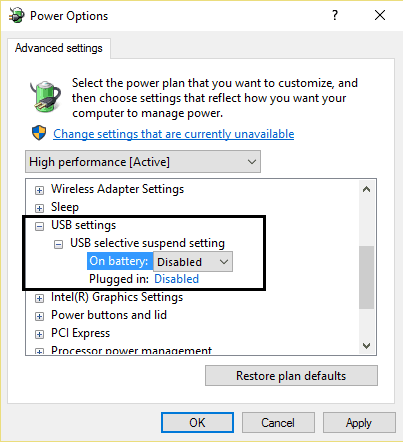 USB selective suspend setting - [Fix] Unknown USB Device (Device Descriptor Request Failed) For Windows