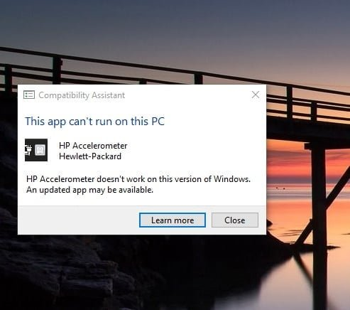 Fix HP Accelerometer doesn't work on this version of Windows