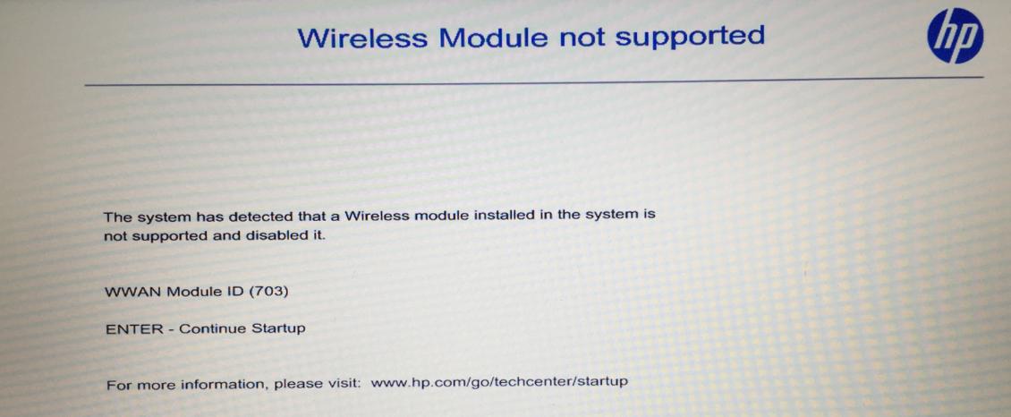 HP WWAN Module ID 703